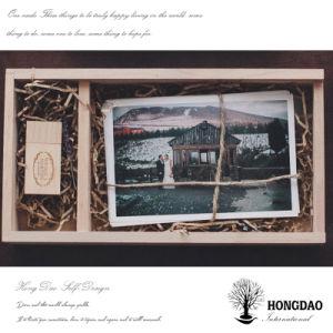 Hongdao paste de Houten Doos _E van het Album van de Foto USB van de Gift van de Ambacht van het Huwelijk aan