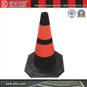 50cm réfléchissant Avertissement de sécurité routière de caoutchouc industriels cône (CC-A10)