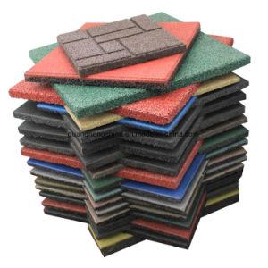 Mosaico de goma de caucho exterior colorido mosaico Mosaico de caucho cuadrados