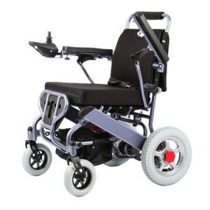 Поездки Портативный легкий алюминиевый корпус медицинских Мобильность Мощность складная инвалидная коляска с электроприводом