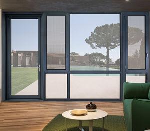 Revestimiento en polvo de color blanco personalizado Swing, Casement, puertas y ventanas de aluminio