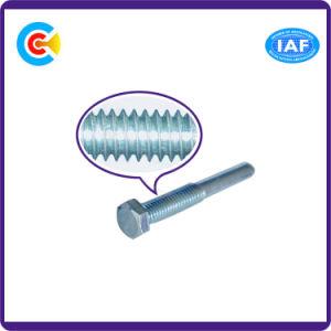 DIN/ANSI/BS/JIS Kohlenstoffstahl/aus rostfreiem Stahl 4.8/8.8/10.9 galvanisierten nichtstandardisierte Sechs-Vorsprung Pin-Schraube für Gebäude