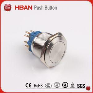 25мм круг LED 12 Напряжение кнопочный выключатель из нержавеющей стали
