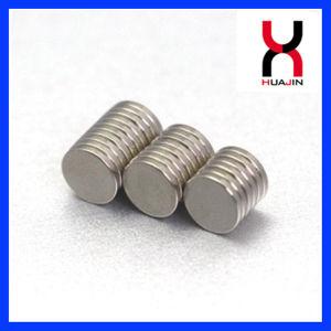 Los discos de bolsos de cuero redondo imán Imán de recubrimiento de níquel (D10*2mm)