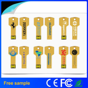 Оптовая торговля классический ключ USB Flash накопитель с логотипом шелка печать