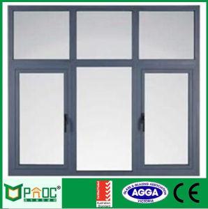 Stoffa per tendine di alluminio Windows di apertura dell'oscillazione con vetro Tempered Pnoc0026cmw
