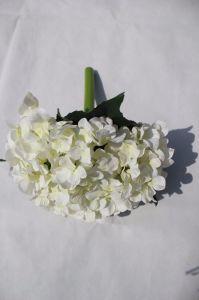 Белый шелк искусственные цветы Hydrangea поддельные Цветы на свадьбу оформление оптовиков дешевые