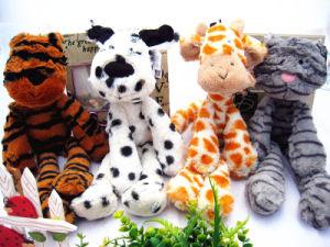 Giocattolo della peluche della giraffa farcito abitudine