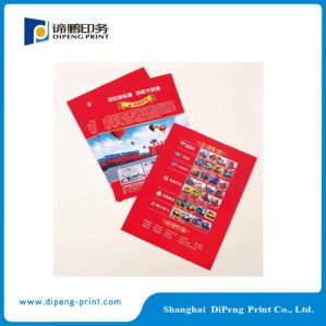 A todo color a doble cara de impresión de folleto (DPF-001).