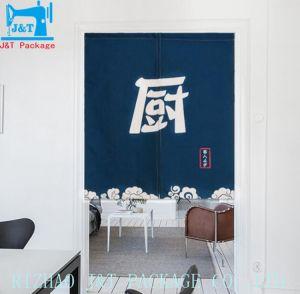 綿の装飾的のためのリネン台所子供の部屋の半分のドア・カーテン
