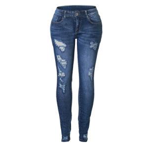Etiqueta Privada personalizada meninas jeans apertados para Mulheres