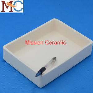 Barco de combustão de cerâmica cadinho filtrante retangular de cerâmica