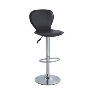 까만 색깔에 의하여 덮개를 씌우는 합성 가죽 회전대 의자 (FS-406)