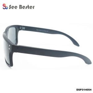 Injection de plastique de protection de tortue UV400 Sports Hommes Homme Lunettes de soleil