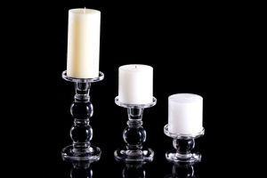 Las tres bolas Crystal Candleholder