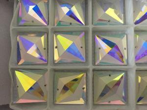 Vierkante Vlakke AchterStenen Crystalab met Gaten