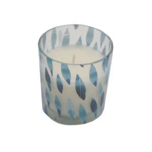 Vidro com Vela Perfumada Flor de rolagem para decoração