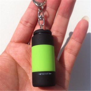 ABS 1LED USBの再充電可能な小型懐中電燈Keychain