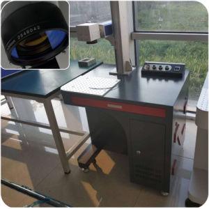 Botão de plástico de fibra Uscam máquina de marcação a laser