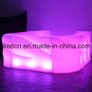 Novas e modernas aceso Bar Wave mobiliário LED iluminado do contador