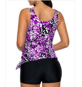 Com o lado impresso calções de banho túnica e calça&200 g de tecido durável Sportswear &50 UV+ fato de mergulho