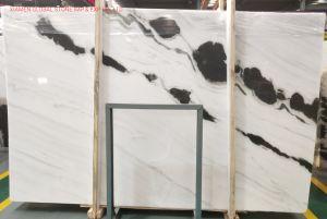 Losas Naturales pulidas chinas de Alta calidad Panda Blanco Marble for Decoración de pisos de pared interior con azulejos y escaleras