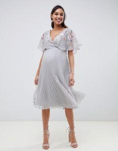 22a97c3895 La mujer de pliegues personalizado bordado vestido de maternidad ...