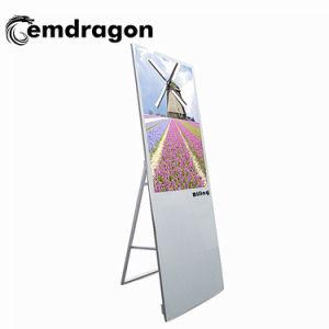 Totem de la publicité de l'écran tactile LCD LED de visualisation affichage publicitaire lecteur de DVD portable 43 pouces écran télécommande
