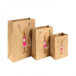 Impressão personalizada de bijutaria sacola de compras de luxo com uma corda de sacos de papel multifuncional