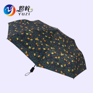 Anti UV portátil compacto de Abertura Manual 3 Dobre Umbrella