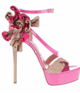 Les femmes haut talon sandale rose