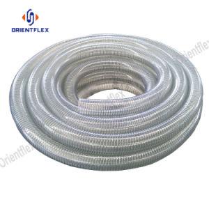 Tubo flessibile di aspirazione dell'acqua di rinforzo spirale Anti-UV del filo di acciaio del PVC