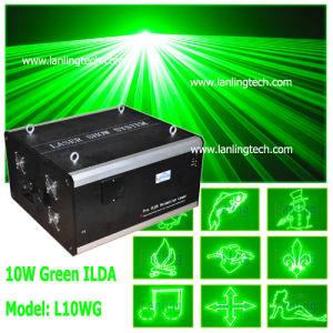 10W зеленого света лазера Ilda открытый Рождество лазера