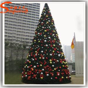 Decoração de jardim luz LED artificial de PVC Árvore de Natal