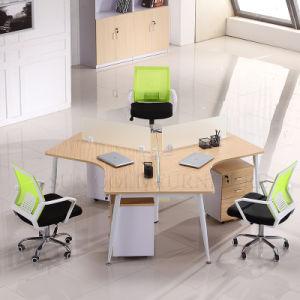 Mobiliario comercial moderno de la partición 3 Persona de la estación de trabajo de oficina (SZ-WST804)