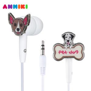 Связанная проволокой 3.5 собака Earbuds наушника 3D шаржа mm милая в Stereo наушников уха для таблетки MP3 Apple Samsung Smartphones Android