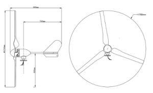 Pequeño generador de turbina horizontal de calidad superior de viento de 500W 12V/24V/48V para el hogar