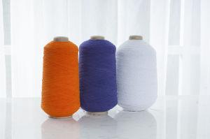 Polyester-Gummi des Spandex-907575 deckte Garn für das Socken-Stricken ab