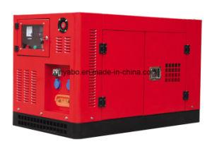 300kw Shanghcai 엔진 침묵하는 유형을%s 가진 디젤 엔진 발전기 세트