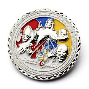 Una sofisticada tecnología esmalte Caballeros Templarios Coin