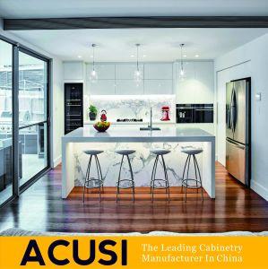 Lacado de madera contrachapada moderna casa de madera Muebles de cocina armario (ACS2-L121)
