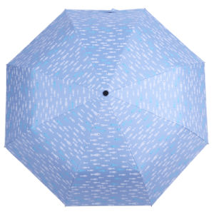 魚デザイン3はマニュアルの開いた傘を折る