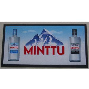Imprimé en caoutchouc Sentir soutenu table Tapis de comptoir bar Non-Woven en verre mat