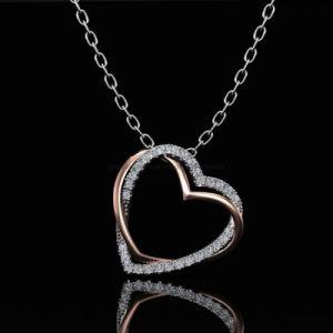 Nuevo diseño simple de conocer la forma de collar de plata joyas bisutería