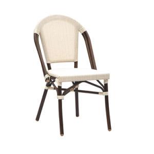 Pequeño y ligero café al aire libre de apilamiento de Rattan silla silla