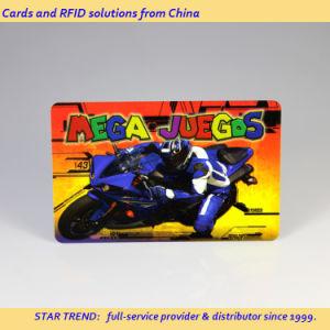 Placa de jogos realizados com tarja magnética de plástico no Arcade