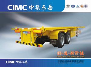 Cimc 3つの半車軸1*40/2*20/1*20 FT容器のトレーラーの骨組トレーラー