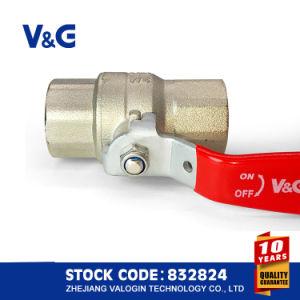Válvula de Esfera de Latão de Punho de Aço CE e ACS (VG-A11011)