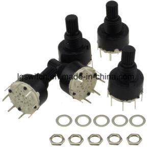 RS16プラスチック黒い小型8つの位置のロータリースイッチ