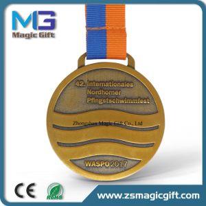 صنع وفقا لطلب الزّبون أثر قديم نحاسة رياضة وسام شامة مع وسام مرس